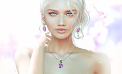 KUNGLERS - Alice set - AD (AvaGardner Kungler) Tags: kunglers avagardnerkungler secondlife sense jewelry digital virtual 3d mesh photography photoshop necklace earrings portrait