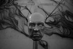 The Mask (sebastienvillain) Tags: fujifilm fuji fujifeed xe2 xseries xf18mm noiretblanc noir blanc blackandwhite black white bw nb monochrome couvent marseille marseilles expo exposition artwork mask