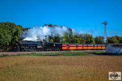 Westbound TCWR-MILW 261 2018 AAPRCO Convention Special Passenger Train at Augusta, MN (Mo-Pump) Tags: train railroad railfan railroader railway railroading railroads locomotive