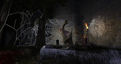 spiderqueen (DreVan1492) Tags: creepy scary spiders spiderwebs haunted castle halloween sl secondlife vampire dark gothic