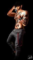 No676 (ashraf rathmullah) Tags: man smoke jeans tattoo sexy xxx
