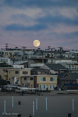 Moon Night @ Manhattan Beach (bryanasmar) Tags: ngc sony a7rii fe 24240 oss moon night manhattan beach