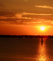 COME SAIL AWAY (Phyllis74) Tags: sailboat sunset water lake sky boat sail cuyahoganationalpark nationalpark cuyahoga park