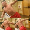 lateral raises (ddman_70) Tags: shirtless pecs abs muscle gym workout shortshorts