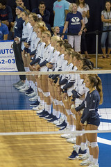 #1 Women's Volleyball Team (aaronrhawkins) Tags: volleyball byu brighamyounguniversity women girls ncaa 1 rank country us usa lineup net tall smithfieldhouse campus university college player court provo utah match impressive dominating aaronhawkins