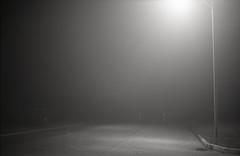 fog coast (bpwilby) Tags: 35mm 400speed agfa agfaapx400 film atlanticcoast bw blackandwhite coast mist monochrome newjersey night nj shore stoneharbor nikonf4 nikon