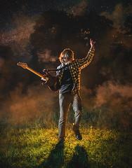 Koszut (joanna.szamota) Tags: koszut guitar night fog poland musician portrait rock