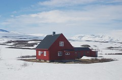 Isolation (sfryers) Tags: snow ice rock cold frost house red timber isolated alone detached arctic circle nordland railway norway smc pentaxfa 35mm 12