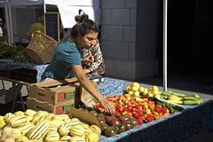 Tomato Adjuster (Generik11) Tags: people ferrybuilding farmersmarket food flowers sf
