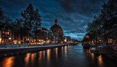 Amsterdam Night (angheloflores) Tags: amsterdam houses canal night lights travel architecture urban explore netherlands