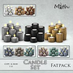 Candle Set Fatpack (mythmainstore) Tags: mainstore sl candle mainstoresl