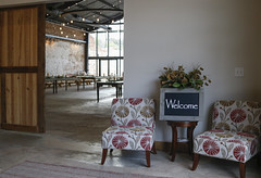 The welcome and sitting area for the Oconee Brewing Company, located in Greensboro, Georgia.