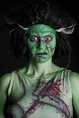 Day 4262 (evaxebra) Tags: frank frankenstein green face paint facepaint blackmilk stitches blood halloween 33daysofhalloween 33days 365days 365
