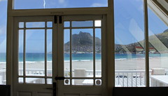 Room with a view... (Eye of Michele) Tags: roomwithaview throughthewindow framed reflections beachbay mountain geometricshapes summer