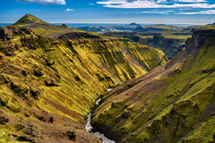 Roof Canyon (azhukau) Tags: nature mountain scenics landscape iceland outdoors hill rockobject summer valley europe sky grass travel greencolor beautyinnature tourism cloudsky cliff blue