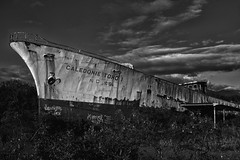 Last Journey (chaufr) Tags: ship wreck blackandwhite acros newcaledonia seaside rust junk bw
