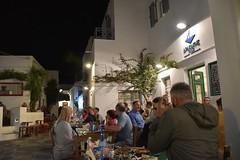 fullsizeoutput_90b9 (lnewman333) Tags: sifnos siphnos greece europe cyclades apollonia kamposhome view aegeansea village island taverna restaurant meal dinner greekcuisine greekfood beer people diners