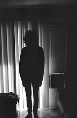 Stand still (stevenguz) Tags: 35mmfilm streetphotography shadows street sanpedro night nightphotography canonetql17giii contrast canonet canon analog film trix400 trix kodak kodaktrix400 kodaktrix kodakeastman spooky 2spooky4me 40mm 35mm