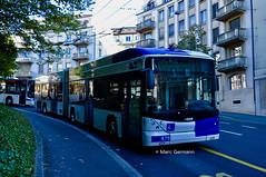 Trolleybus Hess BGT-N2D n°879. © Marc Germann (Marc Germann) Tags: trolleybus naw bt25 ligne17 hesskièpe hessag nawhess nawhesssiemens fbw rétrobus transportspublics transport tl lausanne mercedescitarobenz flirt train leb par brise routes bus convois remorques autobus man articulé historic autopostale
