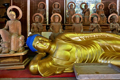 Japan: Miyajima, Daisho-in reclining Buddha (Henk Binnendijk) Tags: shrine hatsukaichi hiroshima japan miyajimaisland daishoin temple buddha nirvana statues shingon buddhism