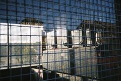 Harbour infrastructure, Merchants Bridge (knautia) Tags: merchantsbridge floatingharbour bristol england uk september 2018 film ishootfilm olympus xa2 olympusxa2 kodak ektar 100iso nxa2roll77 window reflection harbour docks withtrapac