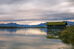 Boathouse at Chiemsee (Thijs de Bruin) Tags: chiemsee beieren duitsland bayern bavaria lake see meer longexposure boothuis bootshaus boathouse darsena ボートハウス もっと ドイツ cloudy bewolkt leebigstopper leecoralfilter