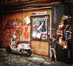 """Small Games Of Children"" (giannipaoloziliani) Tags: capturemoment hardstreet dark darkness graffiti decay streettrash street flickr periphery hard capture games baby walls hdr colors capturestreets caruggi genova genoa suburbs streetlife nikoncamera nikonphotography nikon streetphotography"
