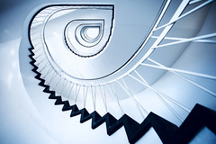 Sunlit stairs (kuestenkind) Tags: stairs treppen treppenhaus kiel treppe