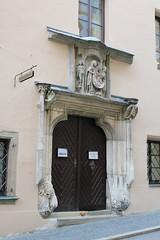 Passau: Eingang zum Rathaussaal (Helgoland01) Tags: passau niederbayern bayern deutschland germany rathaus townhall