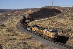 Uphill Slow (Josh 223) Tags: unionpacific evanstonsubdivision transcontentalrailroad freighttrain railroad railway up diesellocomotive utah wahsatch up5992 ge