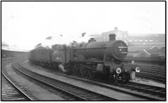Hall at Bristol Temple Meads (trafalgar45682) Tags: bristol temple meads dumbleton hall 4920 sixties steam parcels train