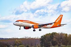 EasyJet_HB_JZZ (Dreamaxjoe) Tags: easyjet aeroplane budapest lhbp landing orange after rain