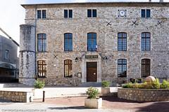 Vallon-Pont-d'Arc, Auvergne Rhone-Alps, France (doublejeopardy) Tags: stone france building hotel vallon rhonealps auvergne pontdarc hoteldeville vallonpontdarc ardèche fr
