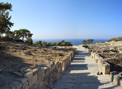 Main street Kameiros (wit) Tags: ruins archaeologicalsite greece rhodes rodos