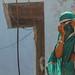 Woman Peeking Through Sari Veil