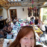 I miss my Colorado Peeps already. Taking a cue from @dinawakley with my selfie taking.  Thank you, ladies, you are amazing. ♡.  #FortCollins  Plus two outtakes (lol) #artjournaling #mixedmedia #collage #artbooks #artjournal #bookbinding #bookmaking #mixed thumbnail
