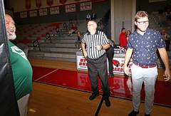IMG_3153 (SJH Foto) Tags: girls high school volleyball bishop shanahan hempfield state pool play championships canon 1018 f4556 stm superwide lens pregame ceremonies ref referee captains coin toss coaches handshake