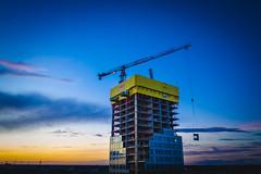 Redi (miemo) Tags: dji europe finland mavic2 mavic2pro redi aerial autumn city construction crane drone dusk evening helsinki highrise kalasatama outdoor sky tower uusimaa fi