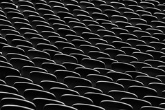 Shiny Seats (Leipzig_trifft_Wien) Tags: münchen bayern deutschland de minimalism abstract contrast black white blackandwhite structure pattern stadium seat rows shape repetition repeating