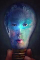 Light Bulb Portrait (jimlaskowicz) Tags: jimlaskowicz artistic dream art painterly textures surreal impressionistic portrait bulb light