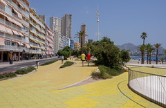Poniente Beach, Benidorm. (CWhatPhotos) Tags: cwhatphotos poniente colors color promanade people view sand sun light sunlight blue sky skies olympus four thirds 43 omd em10 ii digital camera photographs photograph pics pictures pic picture image images foto fotos photography artistic that have which with contain artistc benidorm beach seaside resort spain costa blanca spanish fun hol holiday september 2018 ponientebeach hot day sea water