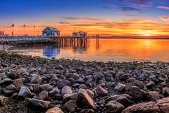 Sidney Rocky Beach Sunrise (kellypettit) Tags: sidneypier brightcolours pebblebeach rockybeach earlymorning reflections light detail quietmorning