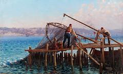 Fausto_Zonaro_-_Fishermen_Bringing_in_the_Catch_-_Google_Art_Project (skaradogan) Tags: fausto zonaro