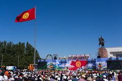 Independence Day, Bishkek (Amaia Uriarte & Marvin Ancian) Tags: bonnieklyde bonnieandklyde bk adventure aventure motorbike motorcycle moto overlanders overlanding bmw bonneville triumph k100 roaditude travel voyage kirghizistan kyrgyzstan independenceday independance bichkek bishkek