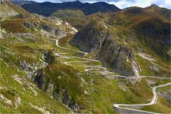 the road........... (atsjebosma) Tags: bergen landschap road weg cars gotthardpass switzerland zwitserland atsjebosma alps alpen
