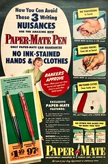 Bankers Approve Paper-Mate Pens! (saltycotton) Tags: pens stationary officesupplies philadelphia vintage magazine advertisement ad 1951 1950s
