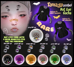TS Bat EYE gacha Poster (Mizugomo @ Tamagosenbei) Tags: 3e tamagosenbei halloween bat eyes eye ghost sale gacha