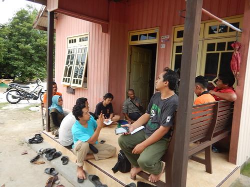 Coordination with Head of Sungai Bakau Village