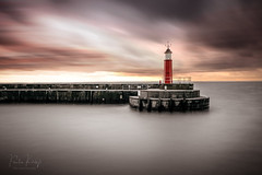 Harbour Lights (PKpics1) Tags: watchet harbour somerset sea seascape water lighthouse longexposure sky
