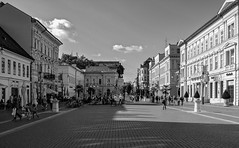 Klauzál Square | Szeged | Hungary (max tuguese) Tags: street cityscape sony maxtuguese black white bianco nero blanc noir noiretblanc lifestyle photographer flickr outdoor dark schwarz weis monochrome view building architecture szeged hungary sky shadow